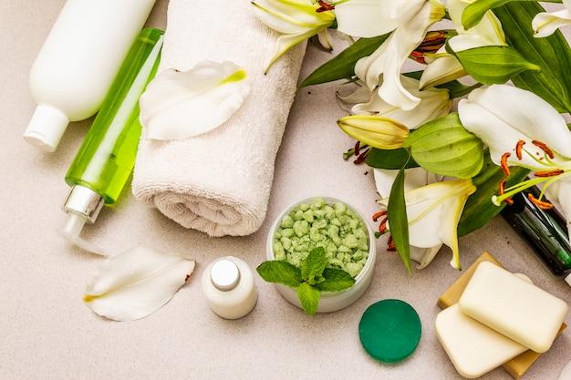 Conceito de flor de spa saudável e de beleza