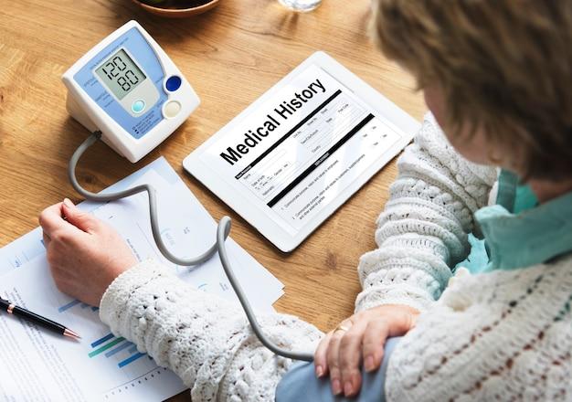 Conceito de formulário de reivindicação de saúde médica