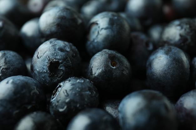 Conceito de frutas frescas com mirtilo, close-up
