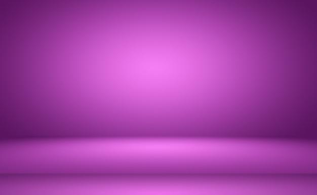 Conceito de fundo de estúdio abstrato vazio luz gradiente roxo estúdio quarto fundo para o produto p ...