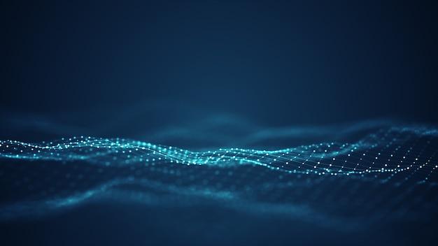 Conceito de fundo de onda digital de tecnologia.