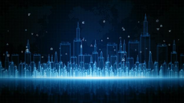 Conceito de fundo digital de tecnologia de análise de dados de conexão de internet de alta velocidade