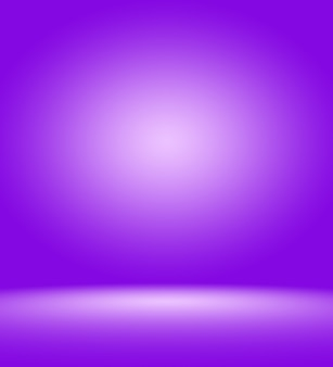 Conceito de fundo do estúdio abstrato vazio claro gradiente roxo fundo da sala do estúdio para o produto