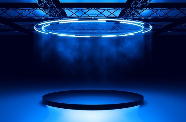Conceito de fundo interior do palco vazio