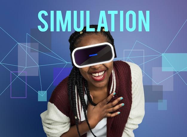Conceito de gadget de simulação de inovação tecnológica