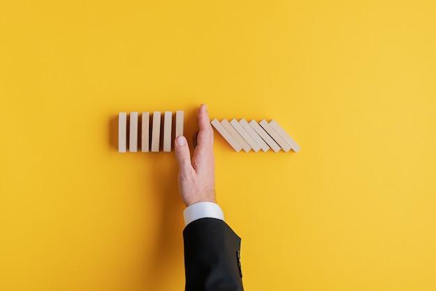 Conceito de gestão de crises de negócios
