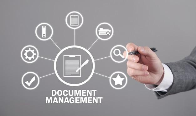 Conceito de gestão de documentos. o negócio. internet. tecnologia