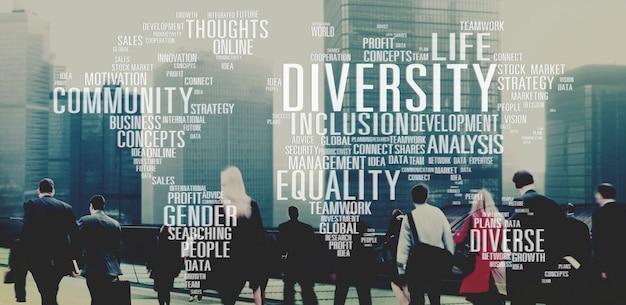 Conceito de gestão de inovação de gênero diverso de igualdade