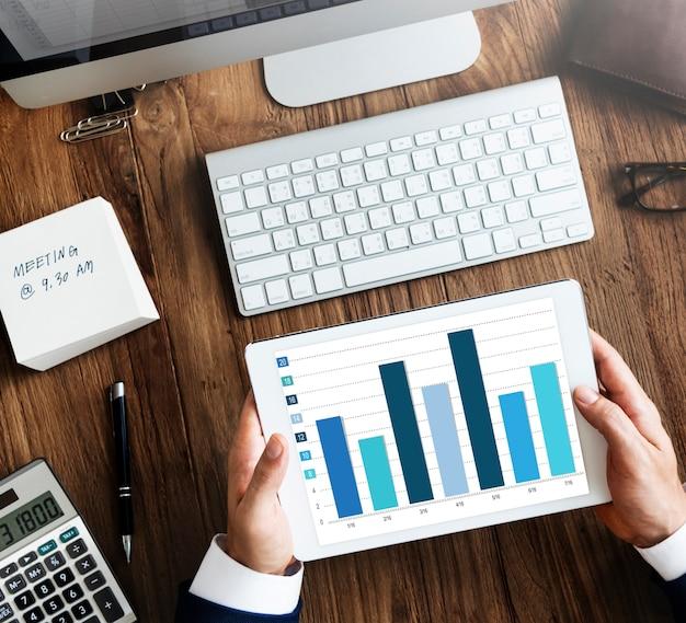 Conceito de gestão de marketing de planejamento empresarial corporativo de marca