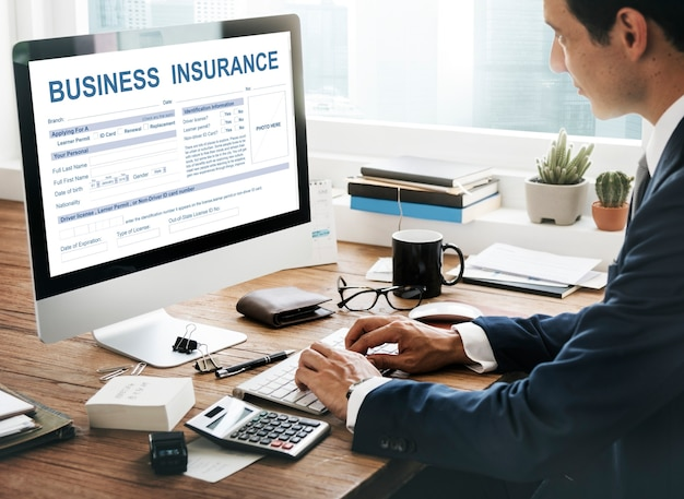 Conceito de gestão de seguros empresariais