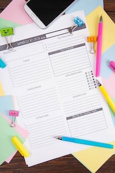 Conceito de gestão de tempo, planejamento de negócios