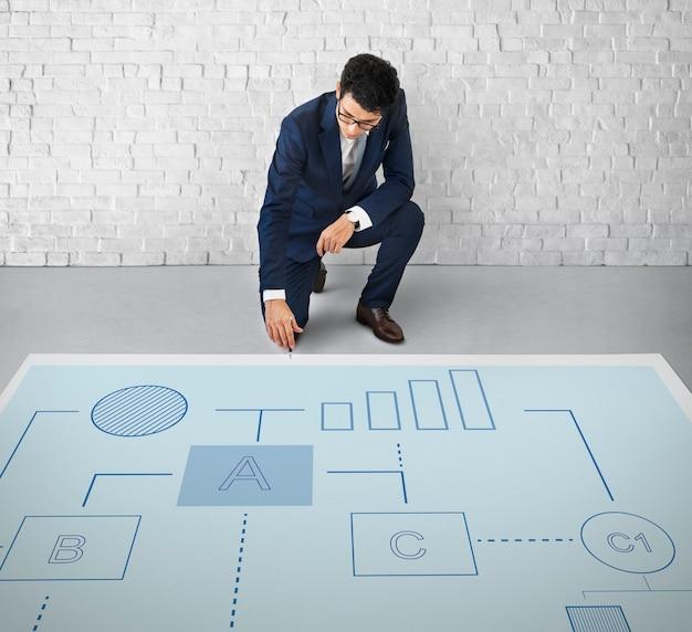 Conceito de gestão de trabalho de estratégia de planejamento