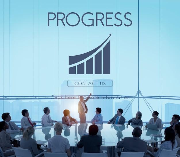 Conceito de gráfico de relatório de sucesso empresarial