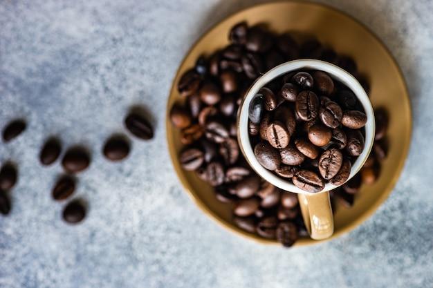 Conceito de grãos de café