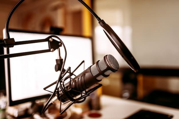 Conceito de gravação de música.