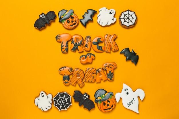 Conceito de halloween com cookies