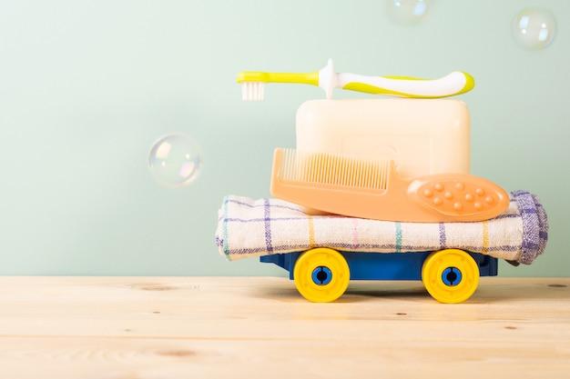 Conceito de higiene do bebê
