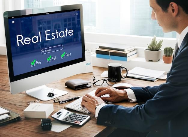 Conceito de hipoteca de venda de bens imobiliários para casa própria