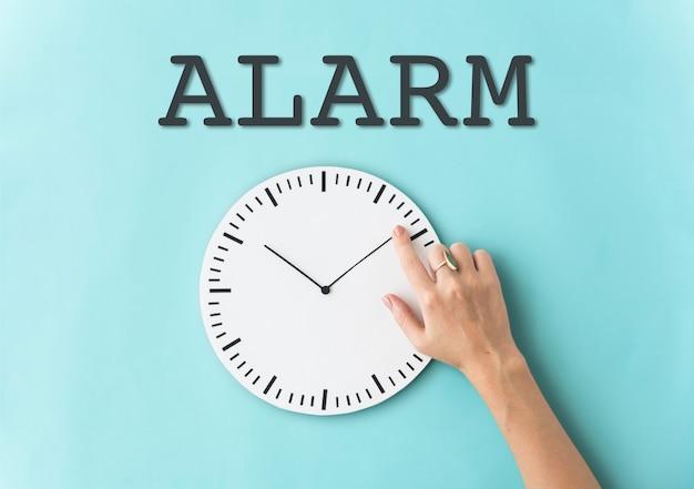 Conceito de horário do despertador de programação