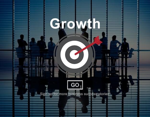 Conceito de ícone de desenvolvimento de progresso de crescimento