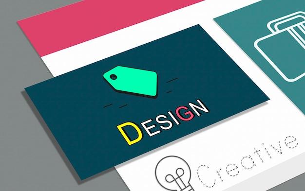 Conceito de ícone de marketing empresarial de marca registrada de direitos autorais