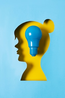 Conceito de ideia com lâmpada