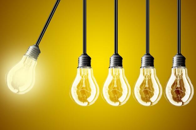 Conceito de ideia em fundo amarelo