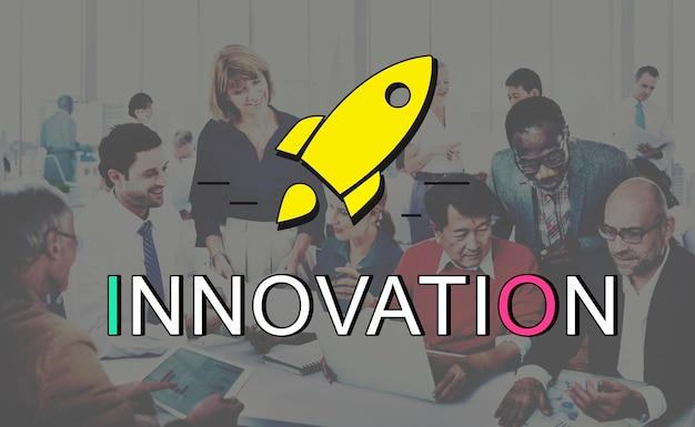 Conceito de idéias de desenvolvimento de design criativo de inovação