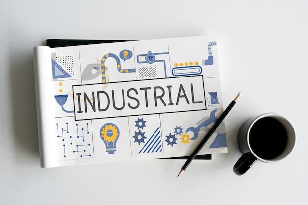Conceito de ideias para a indústria de produção manufaturada