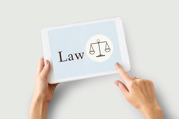 Conceito de igualdade de justiça de julgamento de lei