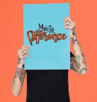 Conceito de impacto de melhoria de efeito de mudança diferente