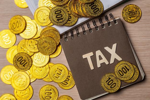Conceito de imposto com espaço de cópia