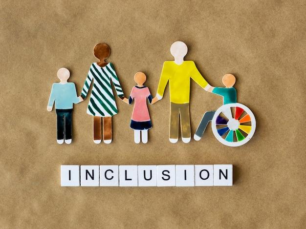 Conceito de inclusão de comunidade multiétnica e de pessoas diferentes
