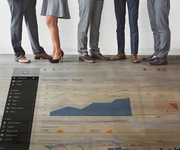 Conceito de informação de estratégia de ideias de análise de pesquisa