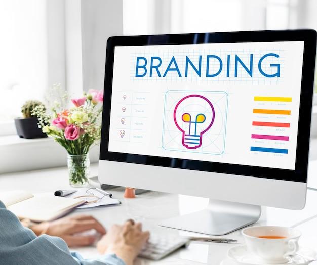 Conceito de inspiração criativa de inovação de marca