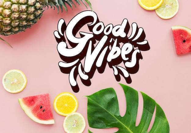 Conceito de inspiração de motivação positiva good vibes
