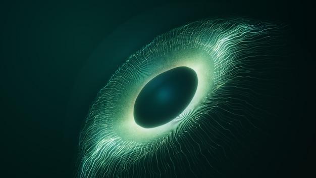Conceito de inteligência artificial de espião. tela do sistema de vigilância virtual.