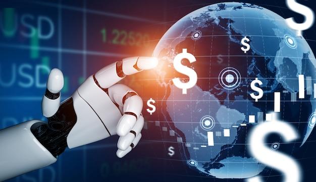 Conceito de inteligência artificial de robô futurista.