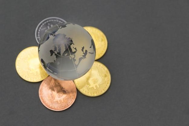 Conceito de investimento bitcoin