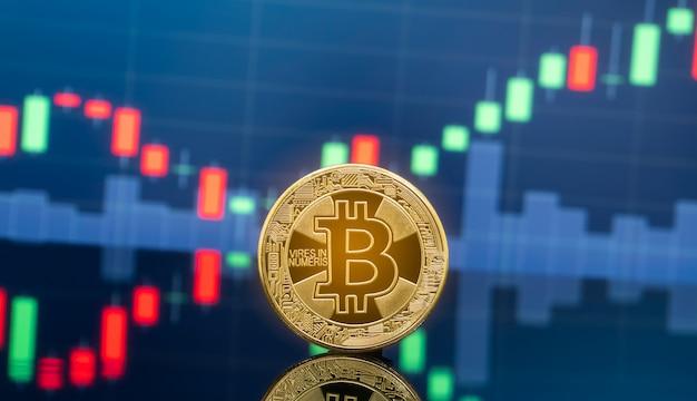 Conceito de investimento em bitcoin e criptomoeda.