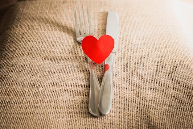 Conceito de jantar romântico do dia dos namorados