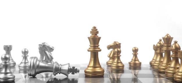 Conceito de jogo de tabuleiro de xadrez de ideias de negócios e conceito de competição e estratégia e dinheiro financeiro