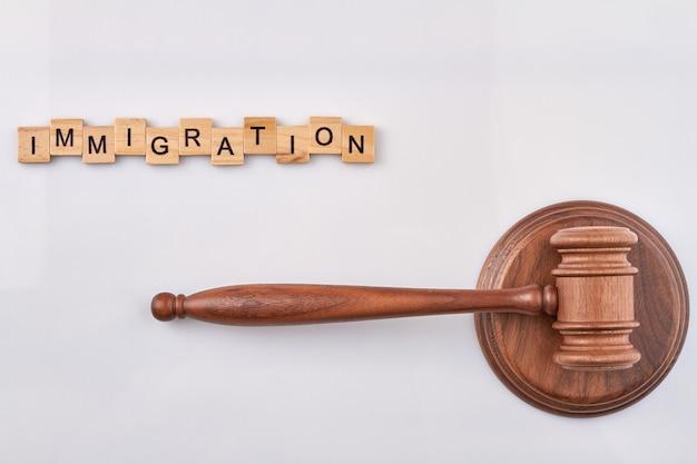 Conceito de justiça de imigração.