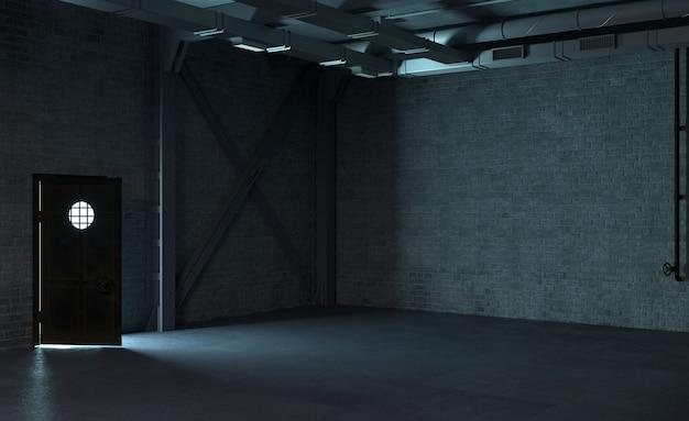 Conceito de labirinto de concreto de papel de parede de fundo
