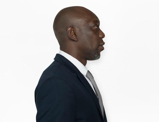 Conceito de lado de homem de ascendência africana