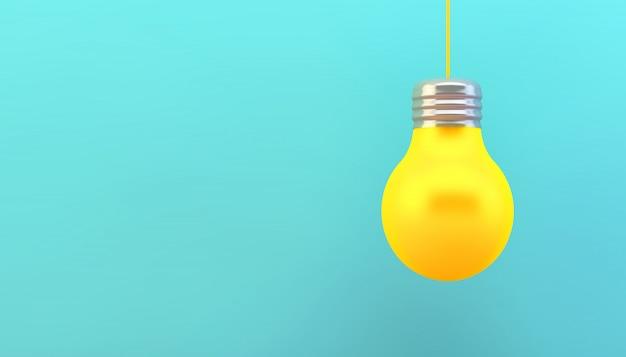 Conceito de lâmpada amarela