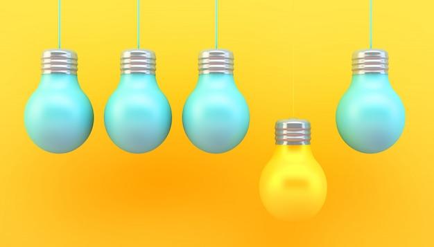 Conceito de lâmpadas coloridas