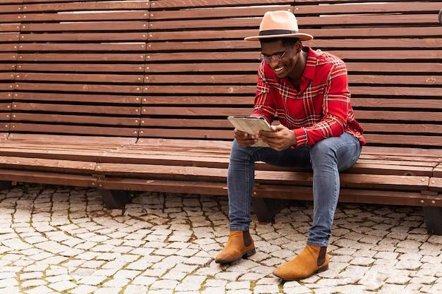 Conceito de leitura em um banco