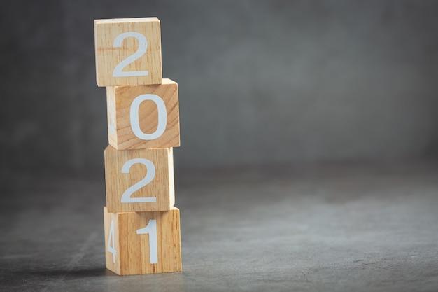 Conceito de letras de número 2021