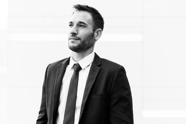 Conceito de líder do empresário planejamento estratégia idéias